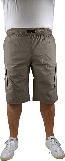 Marina del Rey - Bermudas para hombre, tallas grandes, con cintura ajustable, estilo Cargo Alvin
