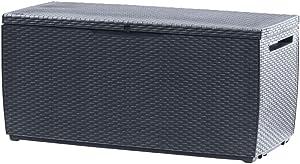 KETER 17202586 Capri Outdoor Storage Box, 123x53.5x57 cm, Grey