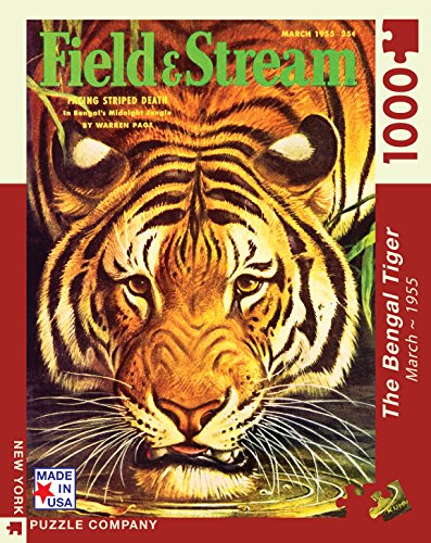 New York Puzzle Company - Outdoor Life The Bengal Tiger - 1000 Piece Jigsaw Puzzle