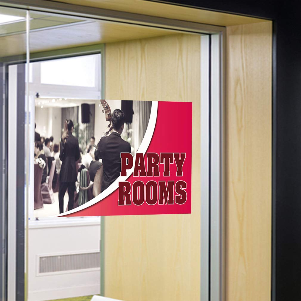 Decal Sticker Multiple Sizes Party Room Business Party Room Outdoor Store Sign Grey Set of 2 52inx34in