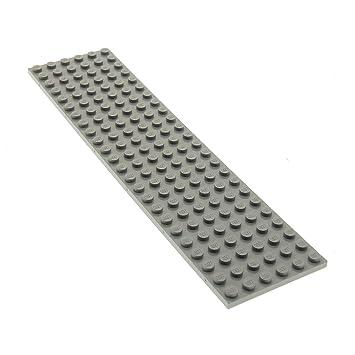 1 X Lego Zug Platte Hell Grau Train Eisenbahn 24 X 6 Noppen 3026 A83
