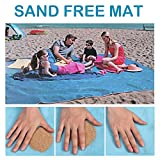 TOLOCO Sand Proof Free Blanket Beach Mat, Compact, Soft and Lightweight with Big Size for Summer Beach, Picnic, Hiking, Outdoor Supplies (Blue)