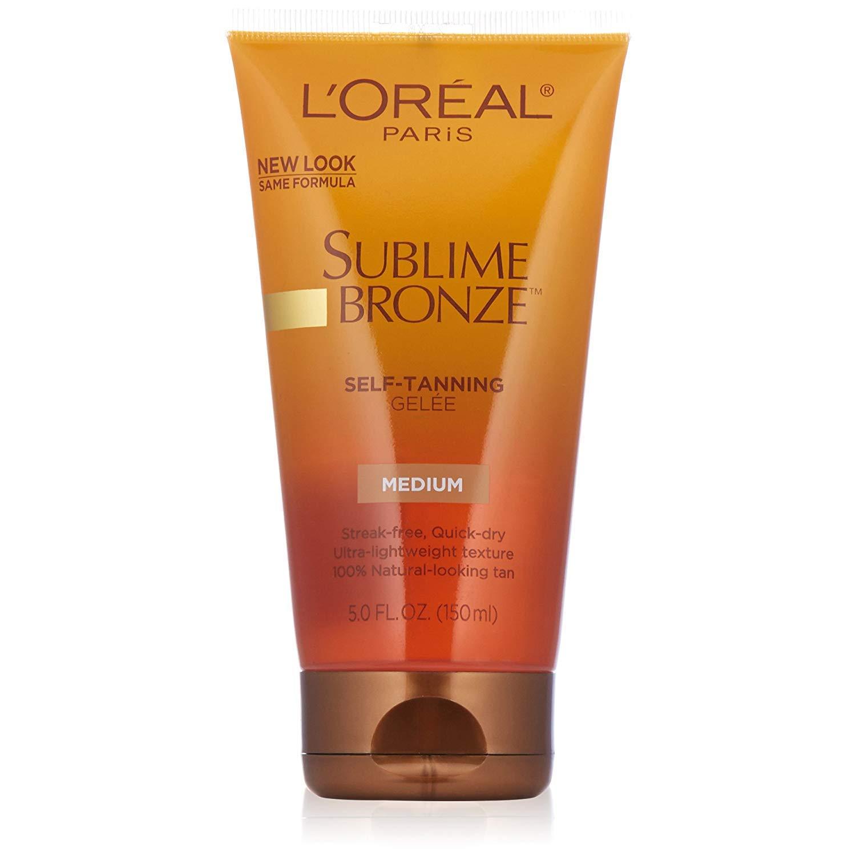 L'Oreal SUBLIME BRONZE Self-Tanning Gelee Medium-Natural 5 oz (Pack of 2)