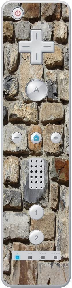 Stones Rock Wall Background Pattern Wiimote Wii Controller Vinyl Decal Sticker Skin by Moonlight Printing