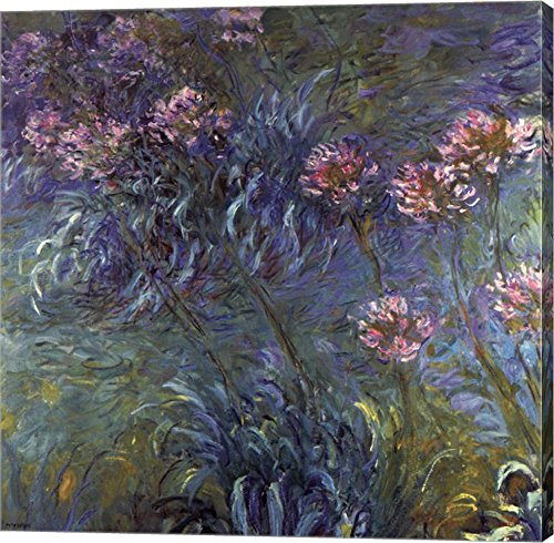 Jewelry lilies by Claude Monet Canvas Art Wall Picture, flower wall art