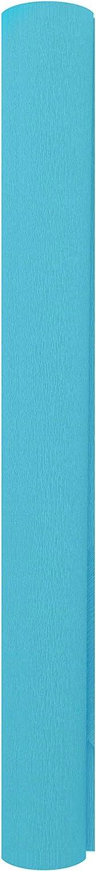 Premium Italian Extra Fine 60 g Crepe Paper Roll Marine Azure 13.3 sqft