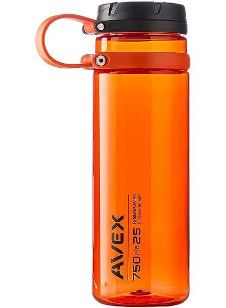AVEX Mixfit Shaker Bottle with Carabiner Clip Orange Avex by Ignite USA 28oz