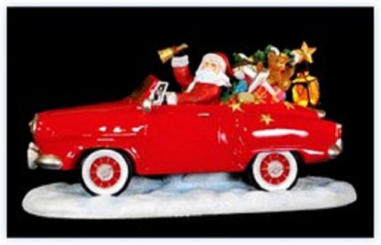 Pipka Holiday Sports Car Santa Figurine