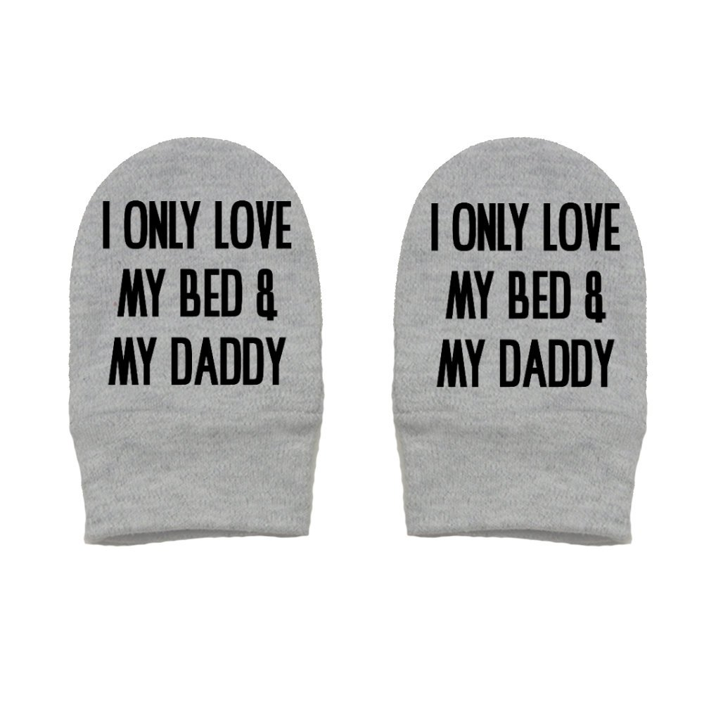 Daddy Gift Fathers Day Mashed Clothing I Only Love My Bed And My Daddy Thick Premium Thick /& Soft Baby Mittens