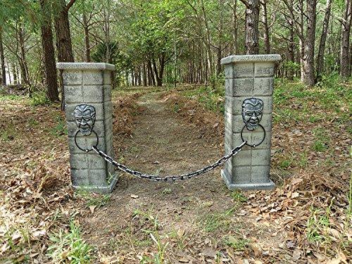 Evil Soul Studios Dracula Cemetery Entrance Column x 2 Halloween Yard -