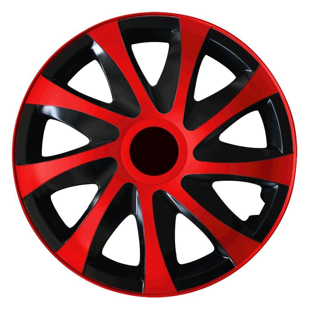 Farbe und Gr/ö/ße w/ählbar! Autoteppich Stylers Aktion 14 Zoll Radkappen Radblenden Set Nr.002 Schwarz-Pink Bundle