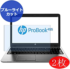 "【2 Pack】 Synvy Anti Blue Light Screen Protector for HP ProBook 455 G1 15.6"" Screen Film Protective Protectors [Not Tempered Glass]"