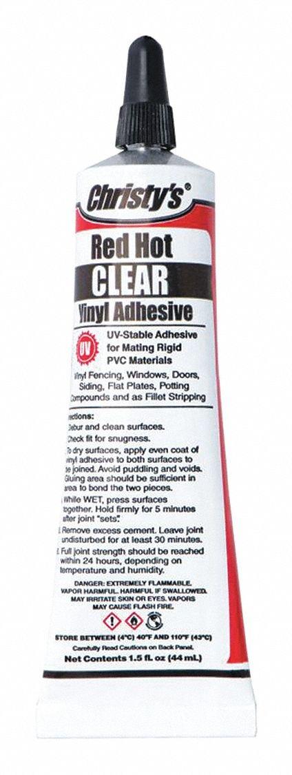 Vinyl/PVC Adhesive, Clear, 1.5 oz.