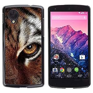 iBinBang / Funda Carcasa Cover Skin Case - Ojo felino piel del tigre lindo del gato grande de los Animales - LG Google Nexus 5 D820 D821