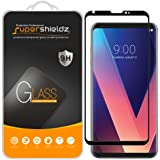 Supershieldz for LG V30 Tempered Glass Screen Protector, [Full Screen Coverage][3D Curved Glass] Anti-Scratch, Bubble Free, Lifetime Replacement Warranty (Black)