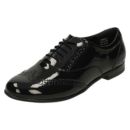 Senior Girls Angry Angels by Startrite Brogue Style School Shoes Matilda -  Black Patent - UK Size 7.5W - EU Size 41.5 - US Size 8.5  Amazon.co.uk   Shoes   ... e264e9e48a36
