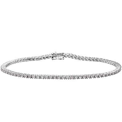 37fc5931f5e1 Naava - Pulsera para Mujer de Oro Blanco 18K con Diamante 0.013 ct   Amazon.es  Joyería
