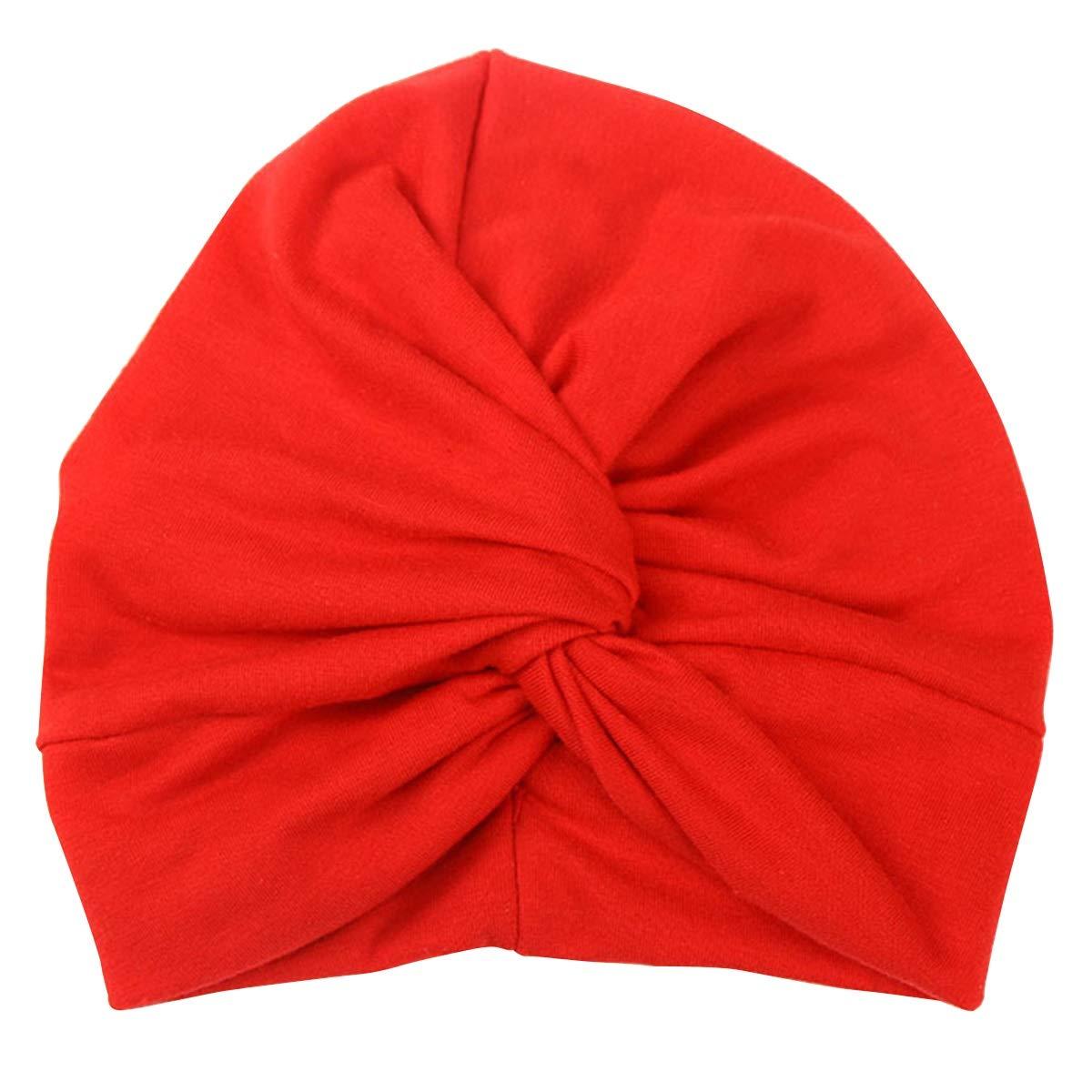 Yonimu Cappello da Bambino Berretto da Bambino Boho Twist Turbante da Berretto di Colore Puro Capo Avvolgente