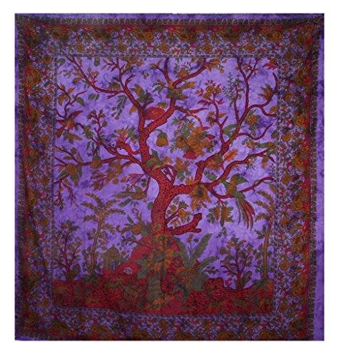 Indian Mandala Wandbehang Betttuch, Gobelin, aus organischer Baumwolle 228.60 cm x 215.90 cm