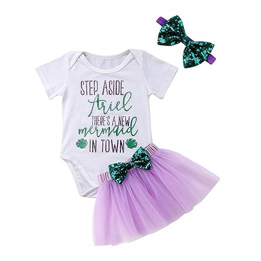 dc58d5484 Amazon.com  Infant Baby Girl Romper Bodysuit +Tulle Tutu Skirt Set ...