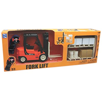New Ray Forklift With Rack Set: Toys & Games [5Bkhe0400277]