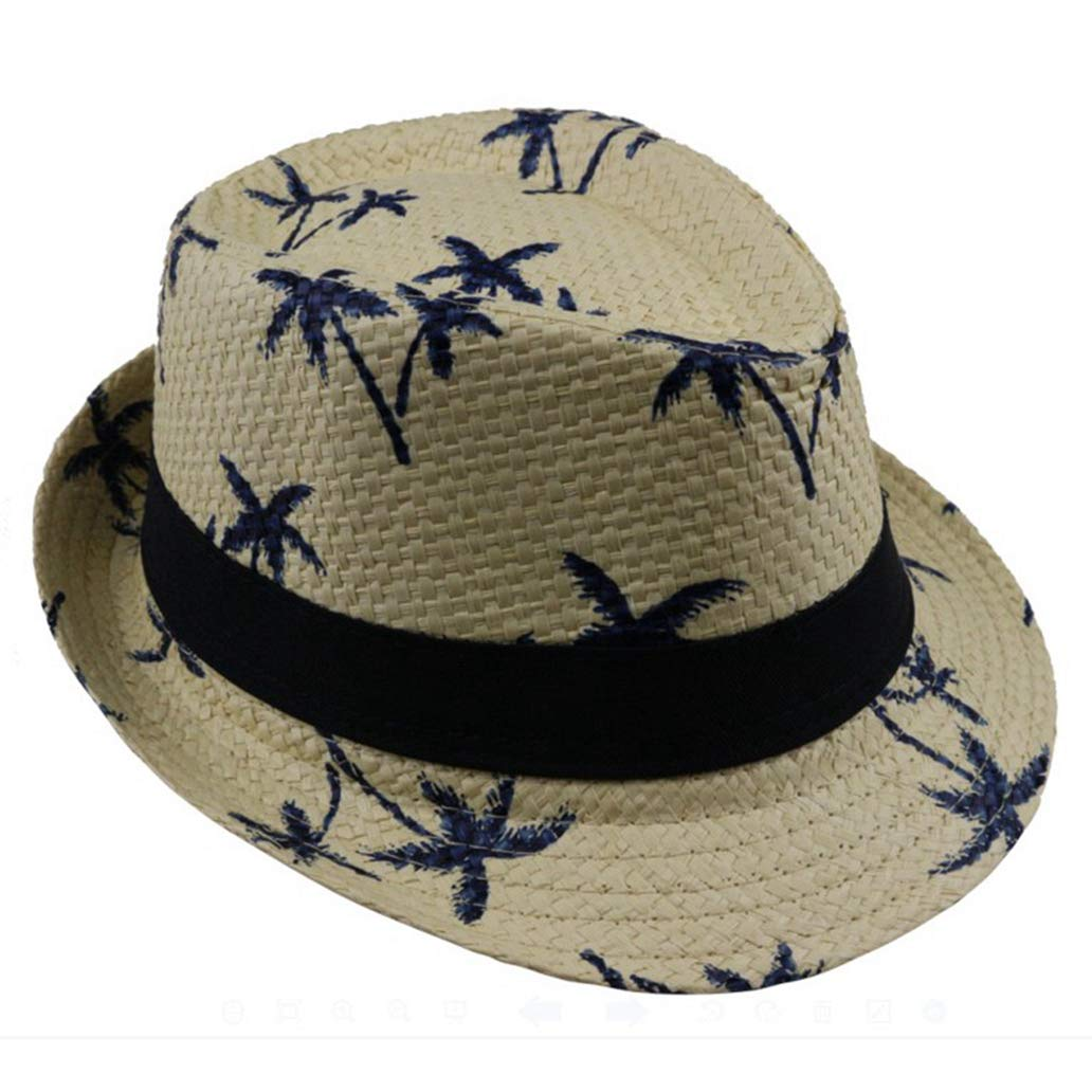 Amazon com children summer straw hats outdoor beach sun caps 4 colour unisex clothing