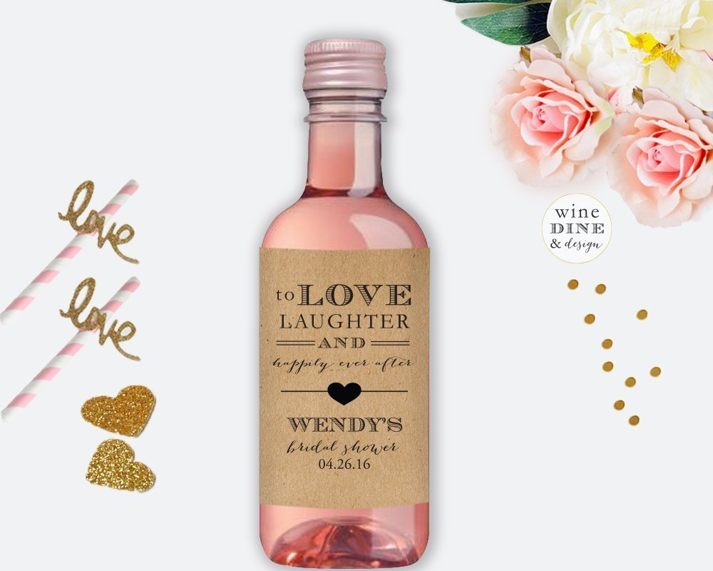 Amazon.com: Mini Wine Label Bridal Shower Favors: Handmade