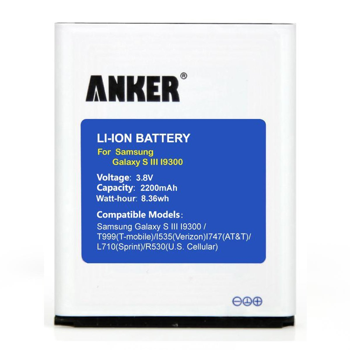 Samsung galaxy battery s3 verizon - Amazon Com Anker 2200mah Replacement Battery For Samsung Galaxy S3 I9300 I9305 Lte Nfc Capable Cell Phones Accessories