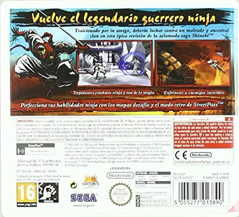 Shinobi 3D: Amazon.es: Videojuegos