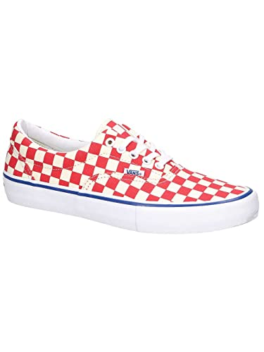 vans checkerboard shoes red