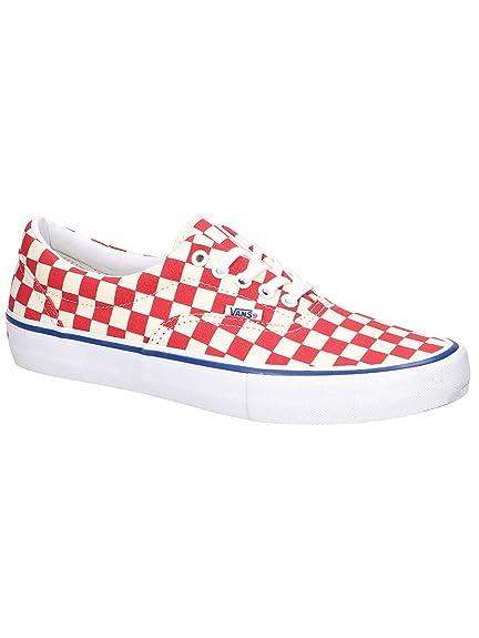 52e00740b3 Vans Men s Era Pro Shoes Checkerboard Rococco Red Classic White 9 UK ...