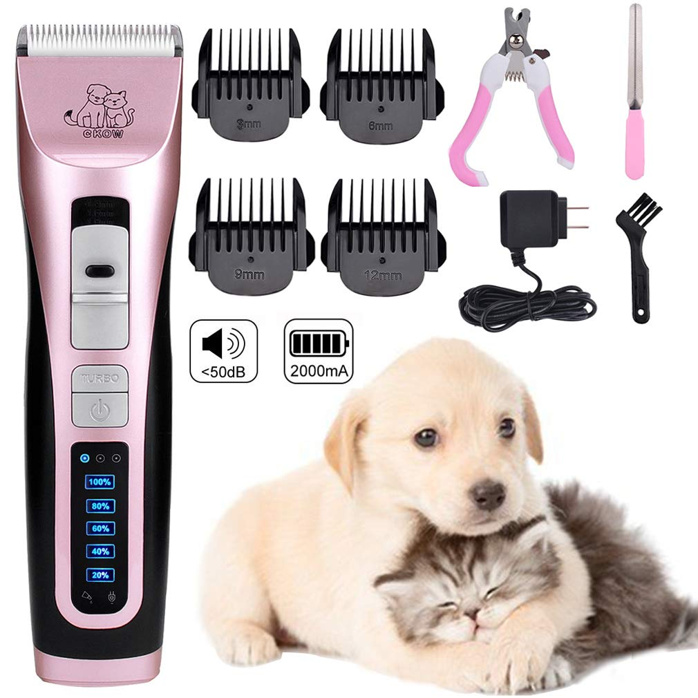 Pet Clippers 3 Speed Professional Pet Electric Clippers Dog Clippers Cordless Rechargeable Low Noise Dog Hair Trimmer Clippers Set for Dogs Cats and Other House Animals