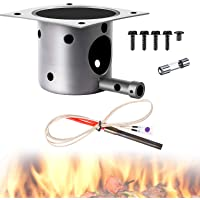 Mudder Fire Burn Pot and Hot Rod Ignitor Kit Replacement Parts for Pit and Traeger Pellet Grill Plus Screws and Fuse