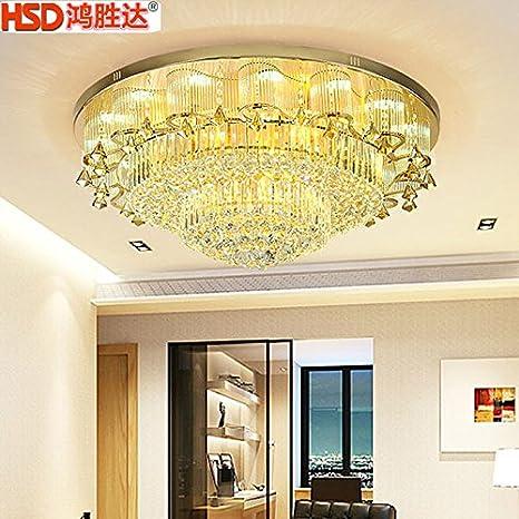 lemumu Luz de techo redondo _ lujoso Golden Circle lámpara ...