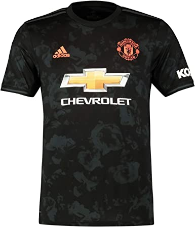Manchester United Fc Official Football Gift Mens Third Kit Shirt Small Black Amazon Co Uk Clothing