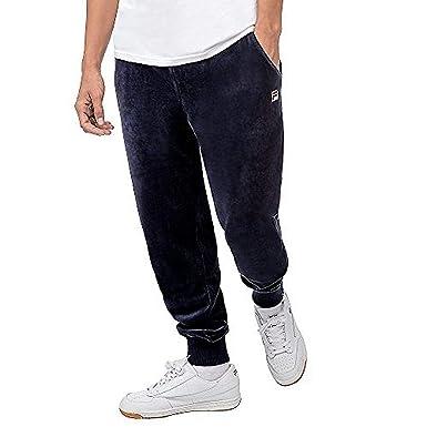 c56b1ceb733d8 Fila Fleece Pants - Blue -: Amazon.co.uk: Clothing