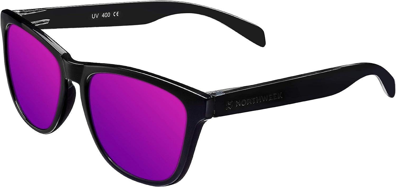 NORTHWEEK Regular Bipper - Gafas de Sol Polarizadas para Hombre y Mujer, Negro/Lila