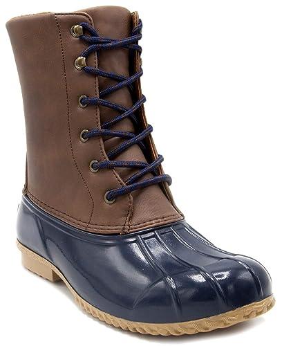 c6302fe7bd3c London Fog Womens Wonder Cold Weather Duck Boot Navy 11 M US: Amazon ...