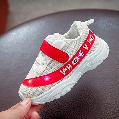 BBestseller Zapatos de Bebé viaje antideslizantes Niños Bebés Zapatillas Unisex Niños Relámpago LED Luminoso Zapatillas de deporte Zapatos de Bebé: ...