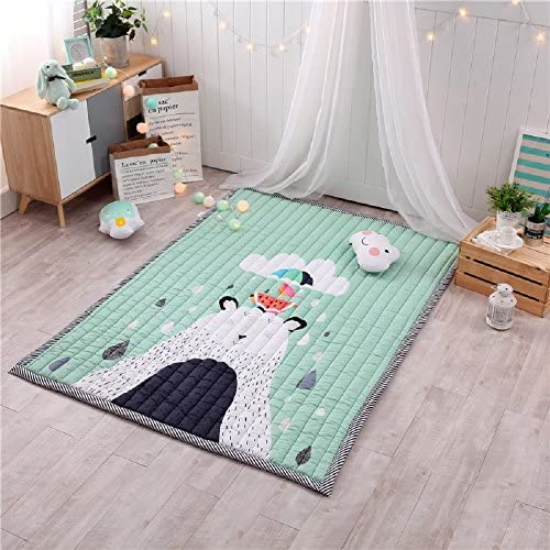Kids Teepee Mat Children Antiskid Play Mat Baby Crawling Mat Non-slip thicken Carpet (Umbrella)