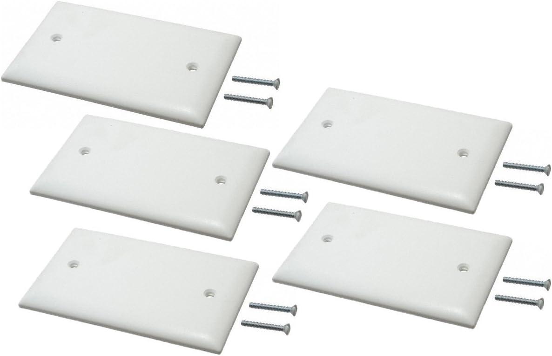 80714-WSingle Gang J Box Blanking Plate White Plastic Single Box