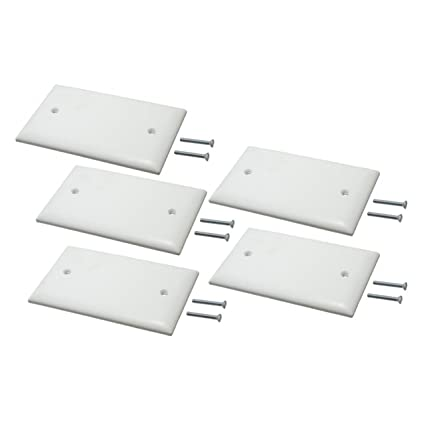 Single Gang Plastic White Electric Box Blank Face Wall Plate Cover