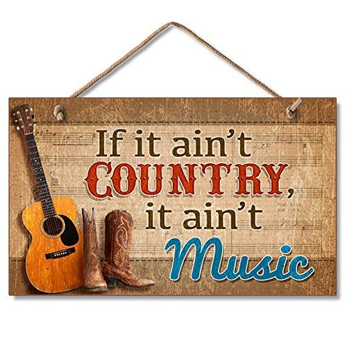 Highland 41-01654 If It Ain't Country... Wooden Wall Sign]()