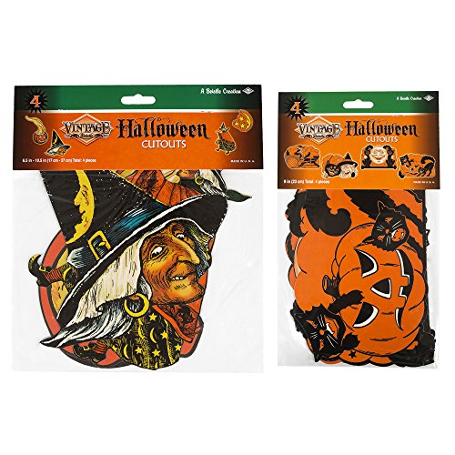 Maven Gifts: Beistle 4-Pack Halloween Cutouts with 4-Pack Halloween Cutouts (Outdoor Halloween Decorations Sale)
