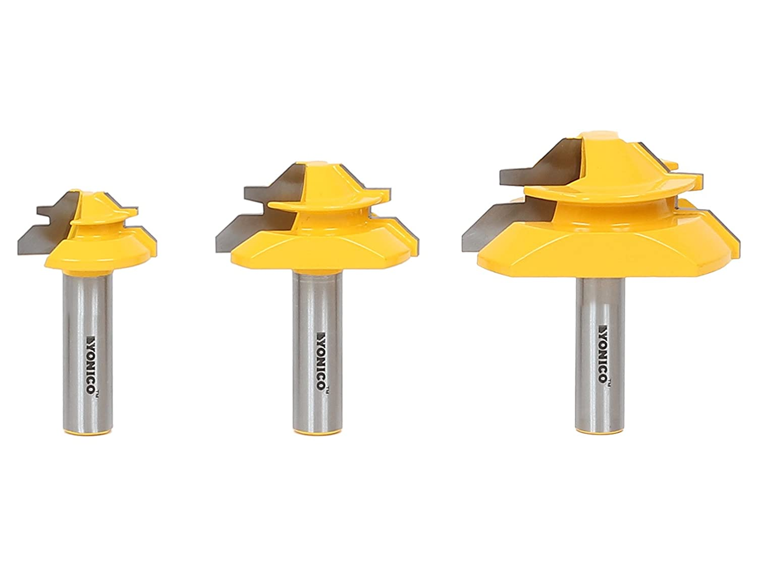 Yonico 15334 Lock Miter 45 Degree Glue Joint Router Bits 1 2 Inch