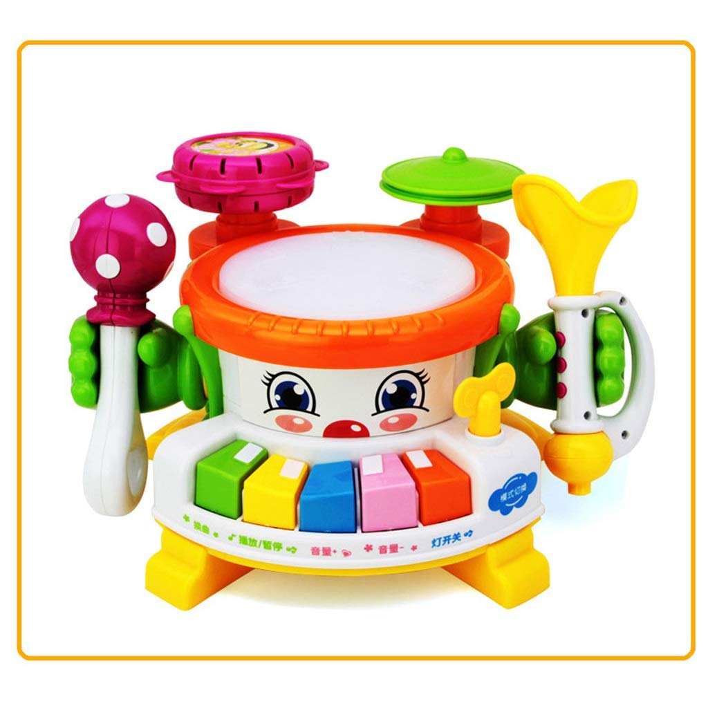 LIPENG-TOY Electric Hand Drums Baby Music Pat Early Education Puzzle 0-1 Years Old Baby Toys 3-6-12 Months (Color : Multi-Colored)