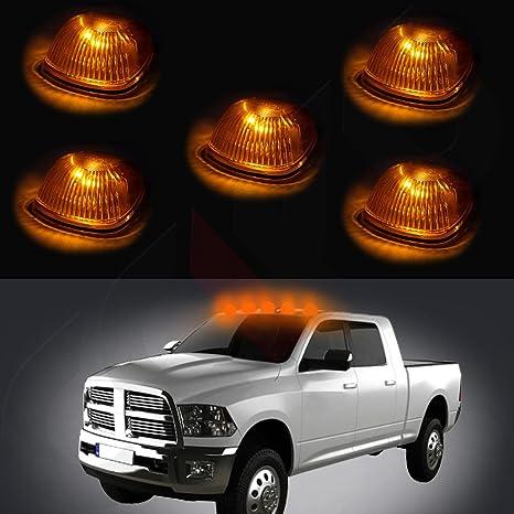 cciyu 5 x ámbar Cab Roof Top marcador Running Lamps W/amarillo luz LED Bombillas