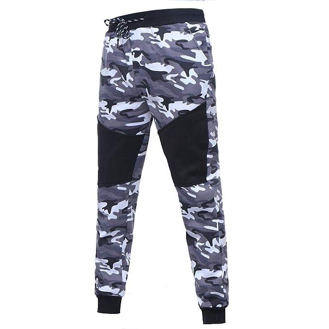 ZODOF Pantalones de chándal de Camuflaje Casuales para Hombre Pantalones de cordón Empalme de Camuflaje Negro al Aire Libre de los Hombres: Amazon.es: Ropa ...