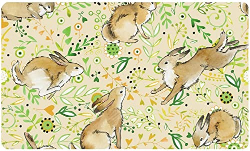 INTERESTPRINT Cute Bunny Rabbit Anti-Slip Doormats Entrance Mat Floor Rug Indoor Outdoor Front Door Mats Home Decor, Rubber Backing 30 L x 18 W