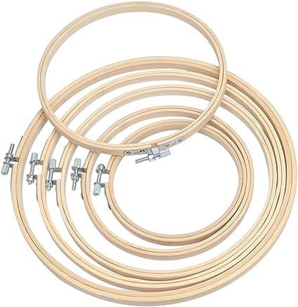 AOWA Stickrahmen Kreuzstich Stickerrahmen Set Holz Hoop Ring N/ähen Set DIY N/ähen Handwerk Durchmesser 9 CM